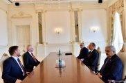 İlham Əliyev BP-nin prezidenti ilə görüşüb