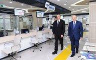"""İlham Əliyev 1 saylı """"ASAN Kommunal"""" Mərkəzinin açılışında"""