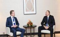 İlham Əliyevin Davosda Norveçin xarici işlər naziri ilə görüşdü