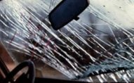 Avtomobil divara çırpıldı - 5 nəfər yaralandı