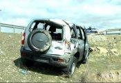 """""""Chevrolet-Niva"""" aşdı - 3 nəfər yaralandı"""