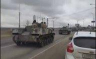 Azərbaycanlı sürücüləri şil-küt etdilər – Rusiya tank yeritdi (- Video)