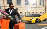 """Bakıda fotoqraf """"Lamborghini""""si ilə qəza törətdi - Fotolar"""