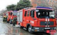 Bakıda bina yandı - 40 nəfər təxliyyə edildi