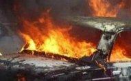 Abşeronda minik avtomobili yandı