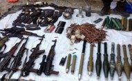 Su kanalının sahilində silah-sursat aşkarlandı