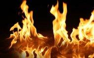 Goranboyda 7 otaqlı ev yandı