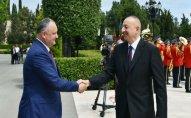 Moldova prezidentinin Azərbaycana səfəri başa çatdı