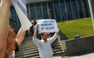 QAT erməni deputatların Bakıya gəlməsinə etiraz olaraq aksiya keçirib