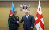 Azərbaycan və Gürcüstan müdafiə nazirlərinin görüşü keçirilib