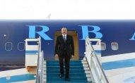 Azərbaycan prezidenti Türkiyəyə səfər edib