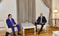 Prezident Qazaxıstanın baş nazirinin birinci müavini ilə görüşdü - FOTO