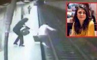 Metroda dəhşətli anlar: qadın 25 yaşlı qızı qatarın altına atdı - VİDEO