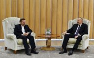 İlham Əliyev iranlı nümayəndə heyətini qəbul etdi