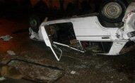 Avtomobil aşdı - Sürücünün boynu qırıldı