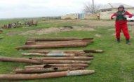 Ağstafa sakininin həyətindən 12 ədəd raket tapılıb – FOTO