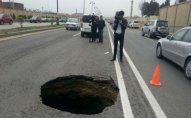 Paytaxtda yolun çökmə səbəbi açıqlandı