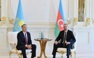 İlham Əliyev Nursultan Nazarbayevə məktub göndərdi