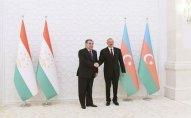 Azərbaycan və Tacikistan prezidentləri mətbuata bəyanatlarla çıxış ediblər