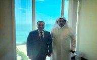 Qətərdəki səfirimiz Şeyx Abdulaziz bin Ali Al-Tani ilə görüşdü