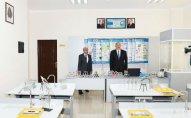 Prezident Zabrat qəsəbəsindəki 192 nömrəli tam orta məktəbdə olub – YENİLƏNİB – FOTO