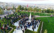 Şanlıurfada Qarabağ parkının və Xocalı abidəsinin açılışı olub - FOTOLAR