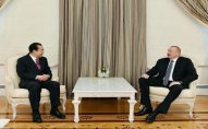Prezident  Xarici İşlər üzrə Çin Xalq İnstitutunun prezidentini qəbul edib