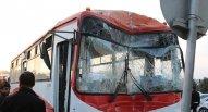 Bakı-Sumqayıt yolunda iki avtobus toqquşdu - YARALILAR VAR - FOTO