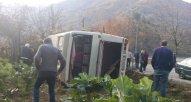Gürcüstanda avtobus aşıb, xəsarət alanlar var