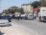 Gürcüstanda azərbaycanlılar yolu bağladı