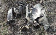 Ermənilərin Kürdəmirə atdığı raketin qalıqlarının düşdüyü ərazi  - FOTO