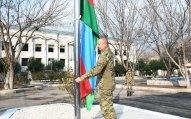 Dövlət başçısı azad edilmiş ərazilərdə Azərbaycan bayrağını ucaltdı - VİDEO