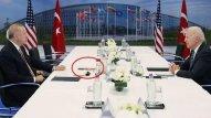 Ərdoğan-Bayden görüşündə masa üzərindəki maraqlı detal (FOTO)