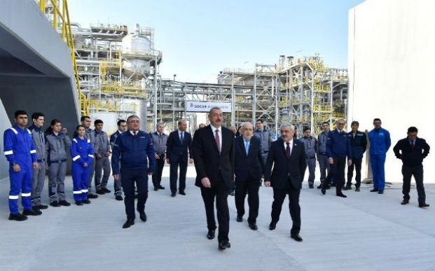 "Prezident Sumqayıtda ""SOCAR karbamid"" zavodunun açılışında iştirak etdi – FOTOLAR"