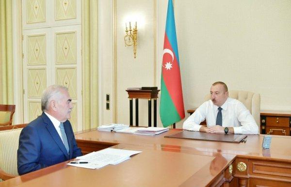 Prezident İlham Əliyev Vasif Talıbovu qəbul edib