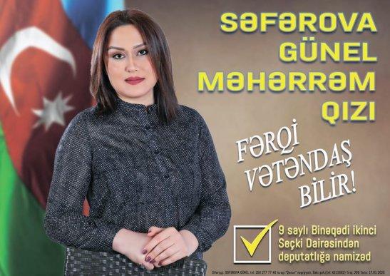 Günel Səfərova Birinci vitse-prezident Mehriban Əliyevaya müraciət etdi
