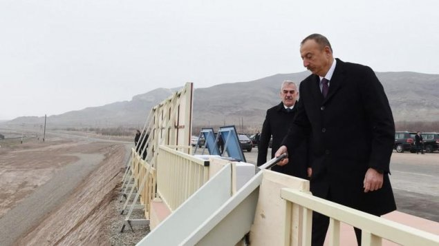 İlham Əliyev Ordubad Su Elektrik Stansiyasının təməlqoyma mərasimində - FOTO