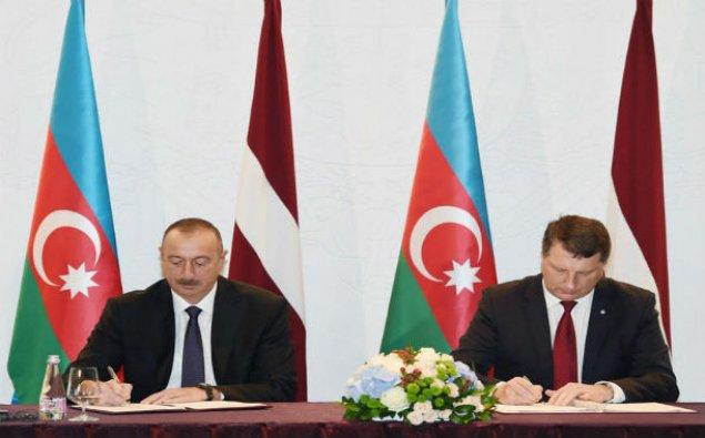 Azərbaycan-Latviya sənədləri imzalanıb