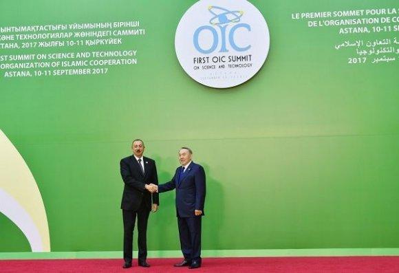 İlham Əliyev Astanada İslam Əməkdaşlıq Təşkilatının Sammitində – FOTO