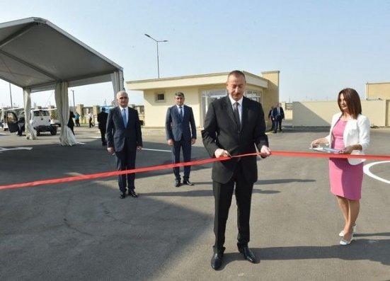 Prezident Sənaye Parkının açılışında - Fotolar + Yenilənib