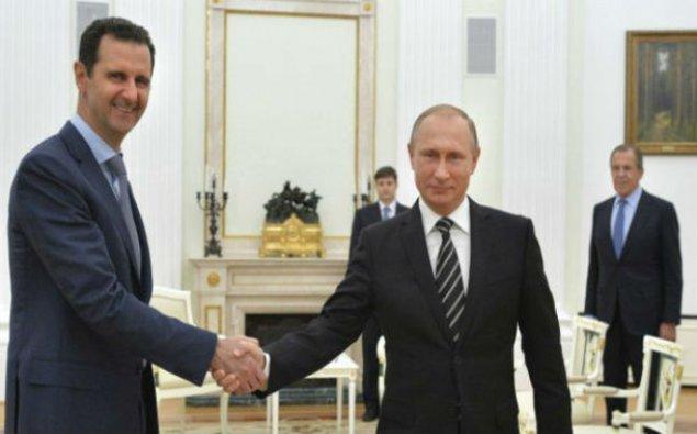 Vladimir Putin və Bəşər Əsəd görüşüblər