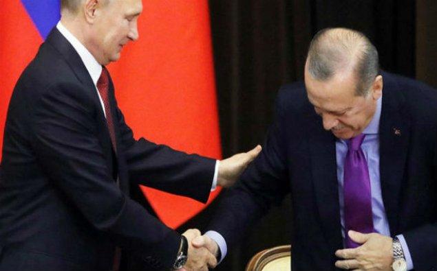 Putin Ərdoğanın stulunu aşırdı – Soçi görüşündə MARAQLI ANLAR - VİDEO