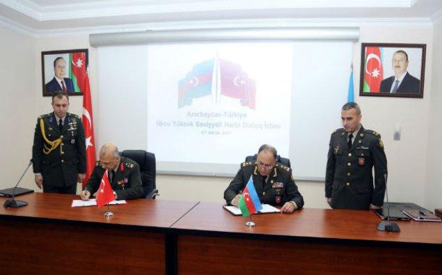 Azərbaycanla Türkiyə arasında hərbi protokol imzalandı
