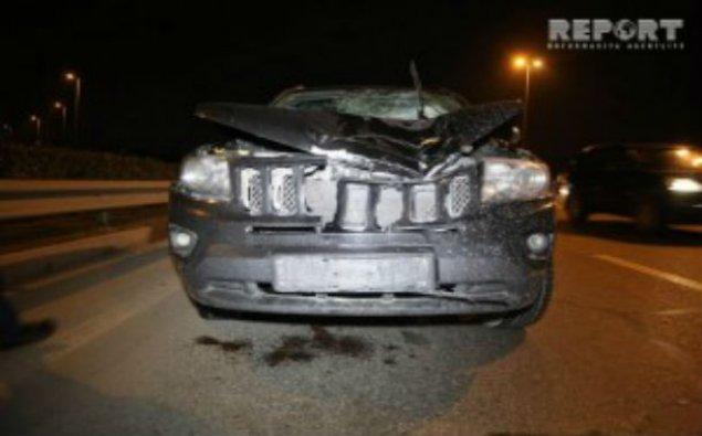"""Aeroport yolunda ağır qəza – """"Jeep"""" piyadanı vuraraq öldürdü"""