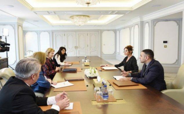 Mehriban Əliyeva Böyük Britaniyanın xüsusi elçisi ilə görüşdü