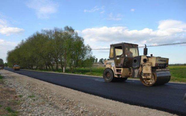 Bu rayonda 18 km-lik yol yenidən qurulur - Fotolar