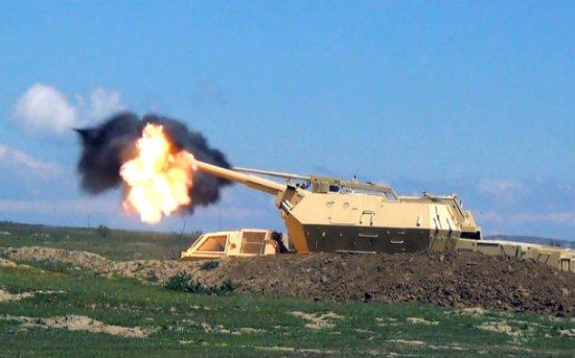 DANA özüyeriyən artilleriya qurğularından atışlar keçirilib – FOTOLAR