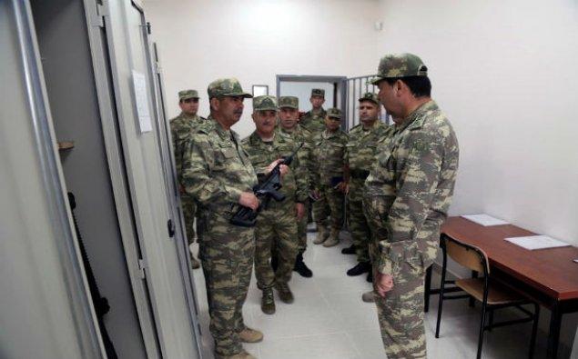 Müdafiə naziri hərbi hissənin açılışında – FOTOLAR