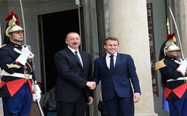 Parisdə Azərbaycan və Fransa prezidentlərinin görüşü olub - FOTO