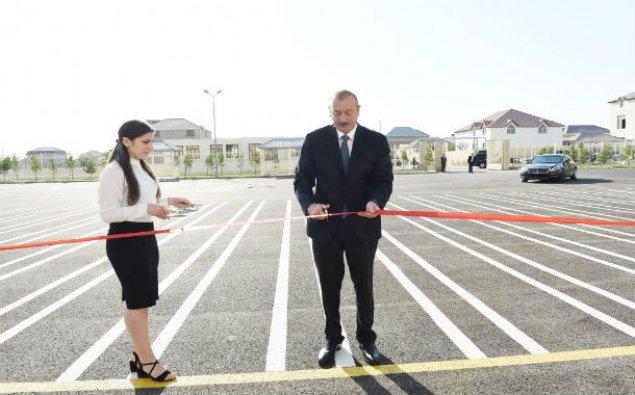 Prezident Maştağada 28 nömrəli tam orta məktəbin açılışında iştirak edib – YENİLƏNİB  – FOTO
